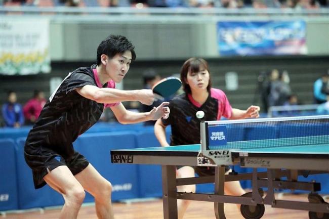 全日本卓球選手権 水谷は複16強、鎌田と混複で32強 千年は2回戦敗退