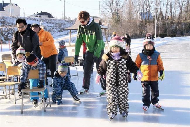 スケートの基本体験 本別で幼児教室
