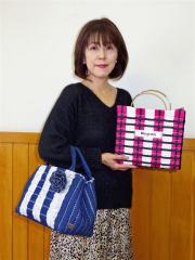 国産デニムでおしゃれなバッグ 帯広の澤崎さんがブルグラティス資格取得