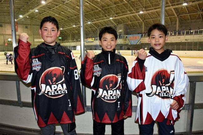 十勝の小学6年梶谷、梅本、高嶋 アイスホッケー日本選抜でカナダ遠征へ