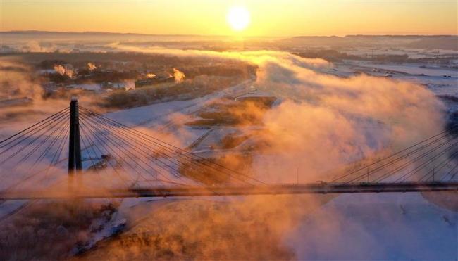 十勝川に「雲龍」管内は今季一番の冷え込み