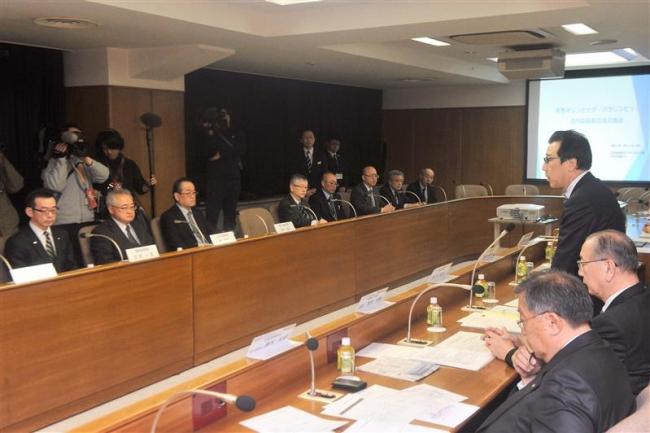 「国際大会生かし、協力」 冬季五輪招致意見交換会で田中副市長