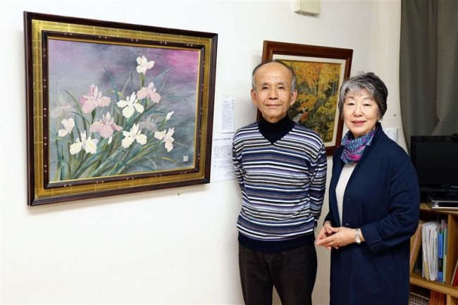 91歳・中村孝子さんのちぎり絵展 市内のポットおじさん