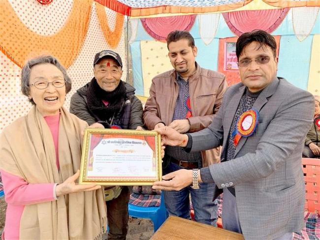青木さん ネパールに学校建設