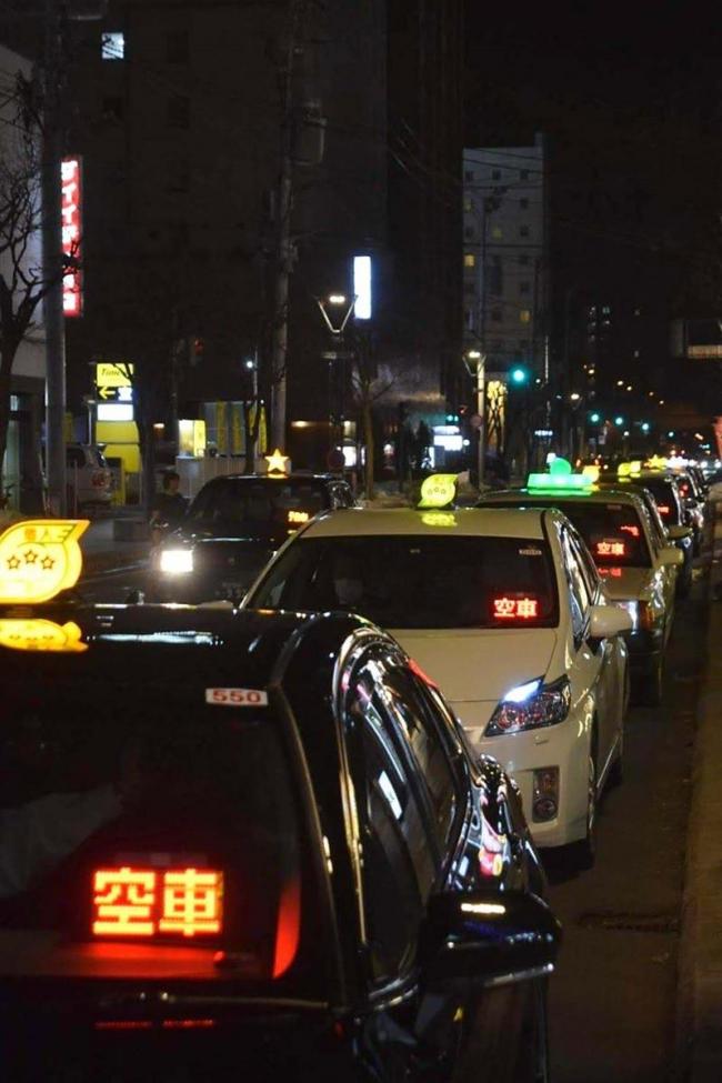 コロナで打撃「夜4割・昼3割の減」市内タクシー