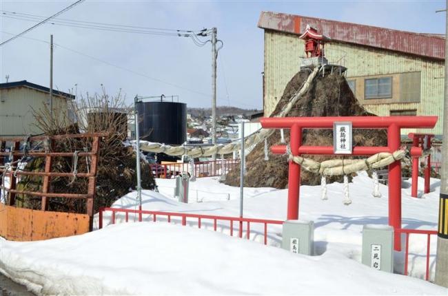 遠景近景(11)「厳島神社の二見岩 広尾」
