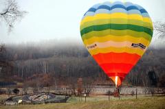 遠景・近景 音更の十勝が丘公園で行われている熱気球体験 2