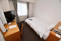 宿泊療養に使用される部屋(28日、アパホテル帯広駅前。小山田竜士撮影)