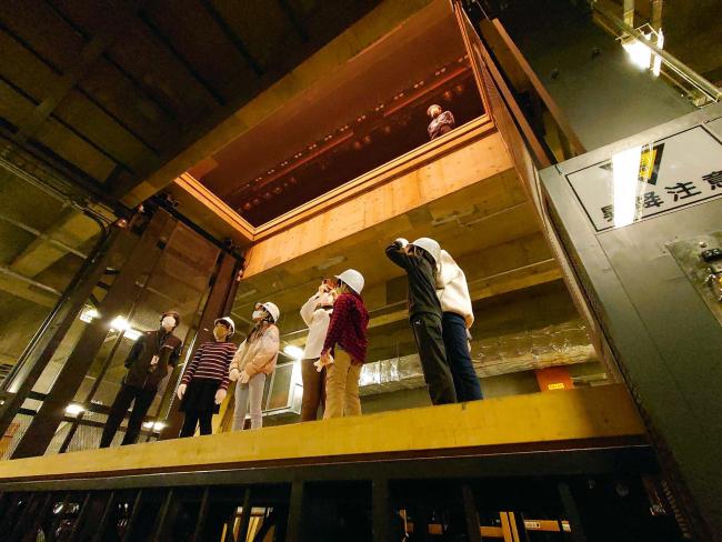 地下から天井まで 帯広市民文化ホールで舞台裏を探検