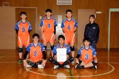 男子準優勝の白樺学園(前列中央が浅間暖仁主将)