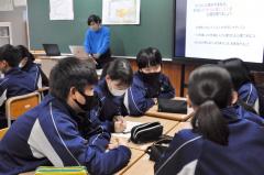 昨年11月に士幌中学校で行われた堀田社長による授業