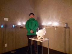 浦幌のイイヤマコウゾウさんが作品展 ミントカフェで 2