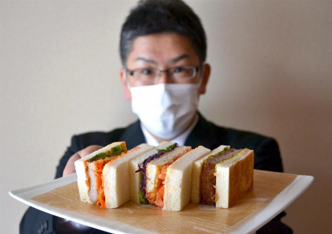 北海道ホテルで8日から「勝つ」サンド販売