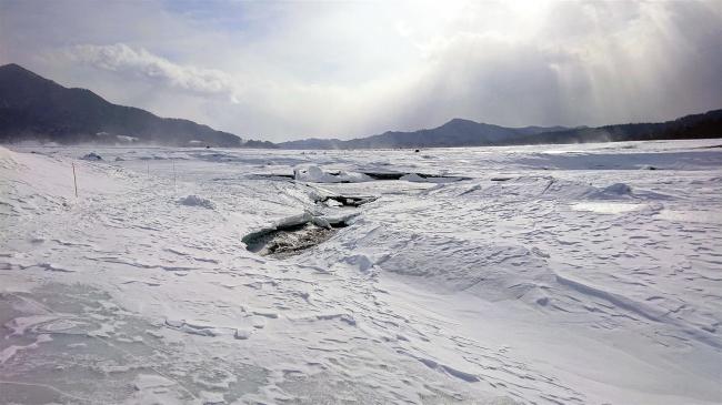 糠平湖例年より1カ月近く早く立ち入り禁止に 水位低下が進む