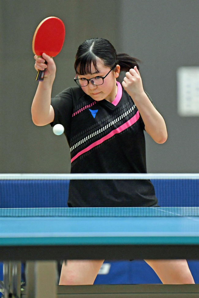 2年長嶋、男子は大森V、1年は新津と荒頂点 卓球全十勝中学生学年別大会