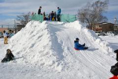 上士幌に雪の滑り台 2