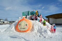上士幌に雪の滑り台 3
