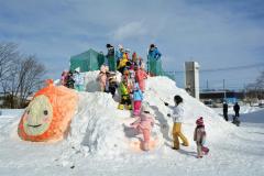 上士幌に雪の滑り台 4