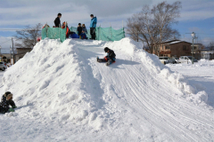 上士幌に雪の滑り台 5