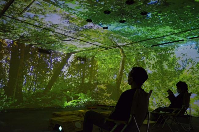 銀座に浦幌の森登場 デジタル森林浴