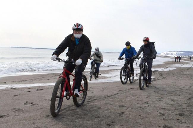 豊頃 マウンテンバイクで大津海岸を快走