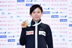 女子1500メートル優勝の高木美帆(@アフロ/JSF)
