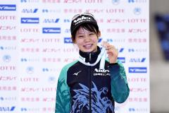 女子1500メートル3位の高木菜那(@アフロ/JSF)