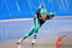 【女子1500メートル】1分55秒40と奮闘し3位入賞した高木菜那(@アフロ/JSF)