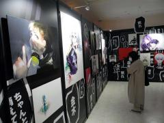 独創的な世界観が広がる展示会場