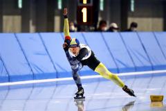 【女子スプリント500メートル・1回目】辻麻希が力強く滑走