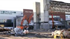 解体工事が大詰めを迎えている旧帯広市総合体育館(19日)