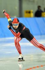 【女子1000メートル】1500メートルに続き優勝した帯三条の水戸咲良