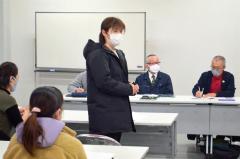 育成会の会長に選出された高田さん