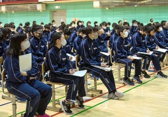 環境活動家の谷口さんが講演 札内中学校