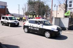本別署で春の全国交通安全出動式 2