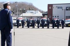 本別署で春の全国交通安全出動式 4