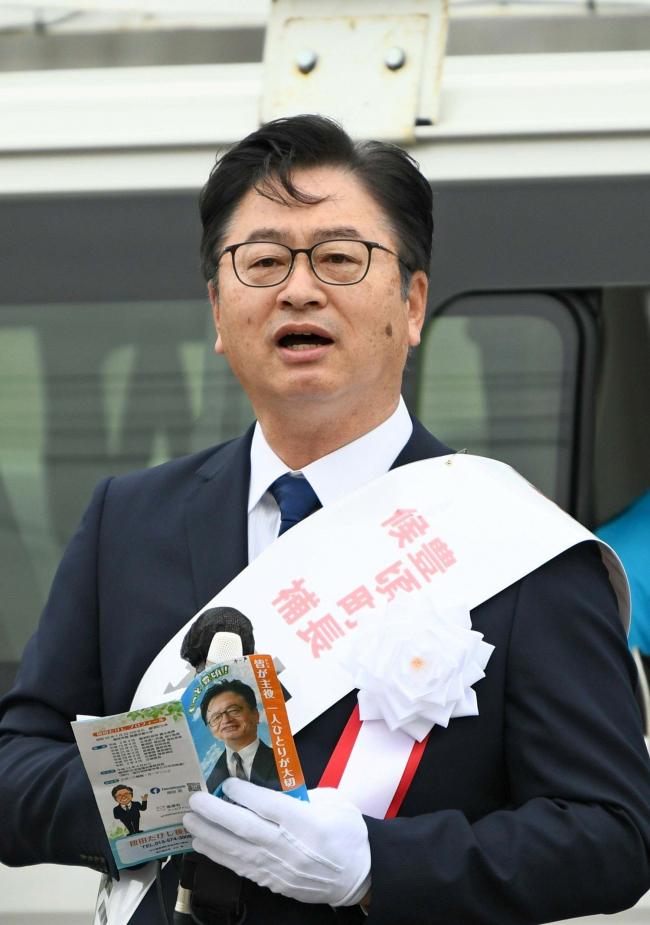 「生まれ育った豊頃に恩返しを」、按田氏が第一声 豊頃町長選告示