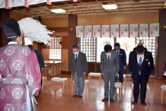 帯広明神大社で執り行われた神事