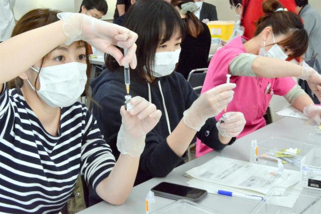 医師、看護師らコロナワクチンの取り扱い学ぶ 音更