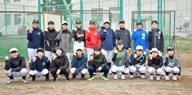 中学生女子軟式野球チーム「グラティアス ウイッシュ ベースボールクラブ」が練習開始