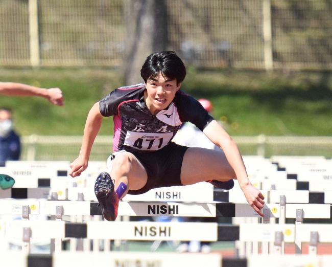 110mH廣冨14秒66 24年ぶり十勝新 陸上競技サーキット第1戦