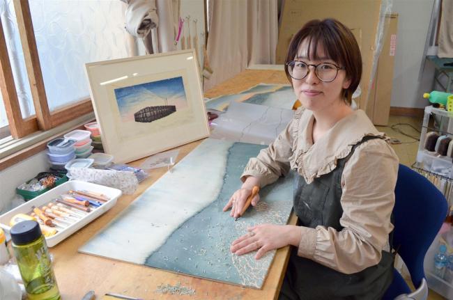 酪農アーティスト下山さん30日に版画教室 アトリエ実現へ一歩 大樹