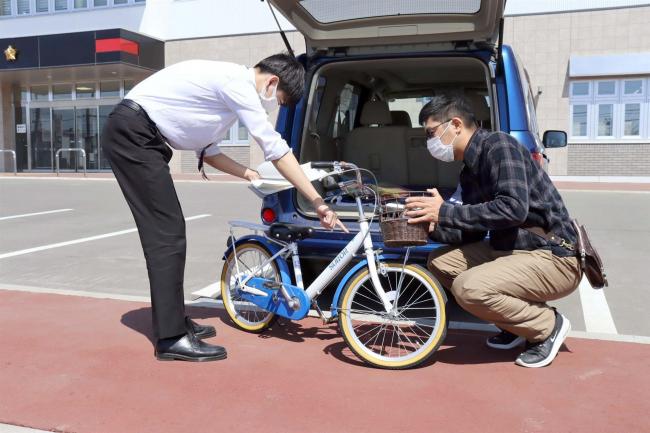 自転車の防犯登録解除 コロナ禍で帯広署への持ち込み増
