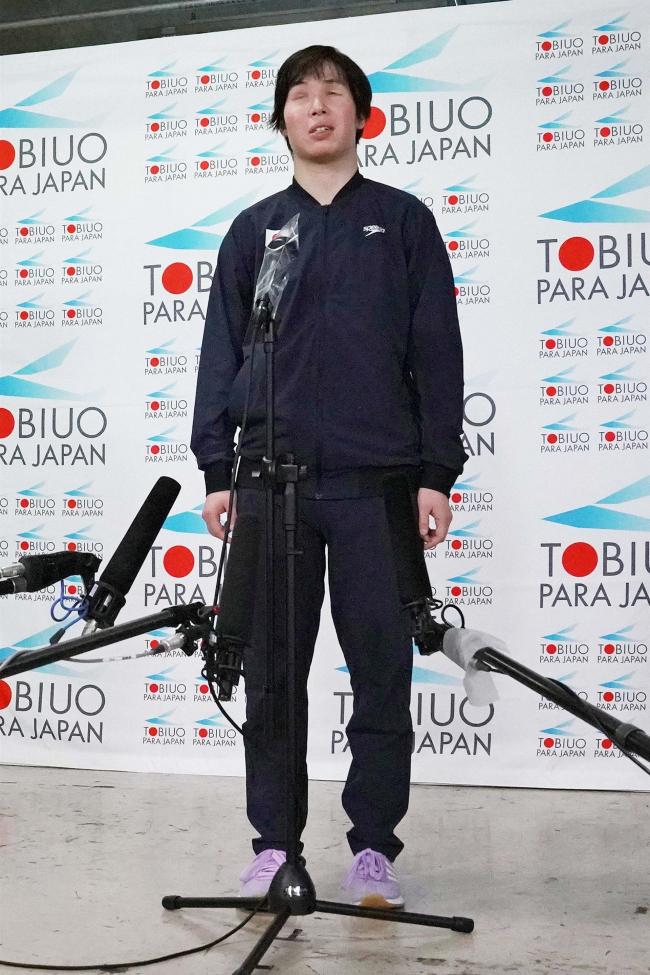 東京パラ競泳代表の小野智華子、3回目のパラリンピック「自己ベスト更新を」会見で決意