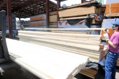 価格が高騰している輸入木材(丸十木材)