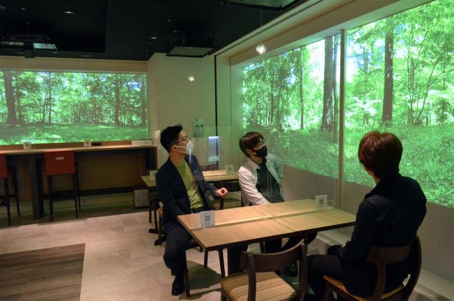羽田空港で十勝体感、デジタル森林浴が登場 どさんこプラザ