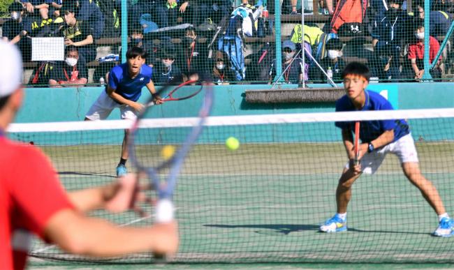 帯北の観野と松本単複で初のインターハイ、複は準V単は3位、全道高体連テニス