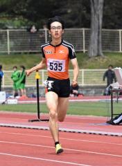 男子400メートル7組 1着永井雅樹(白樺学園高)