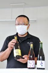 昨年産ブドウのワイン3酒類を発表 あいざわ農園、 4