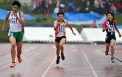 【男子400メートル決勝】50秒82で7位に入った橋本凌弥(白樺学園)